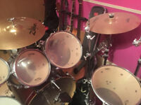 6 piece Mapex drum kit with additional hardware