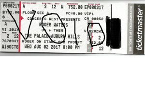 Roger Waters - Us & Them Vip tickets - 2nd row