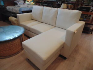 Cream Condo Size Sofa(TRAIL)