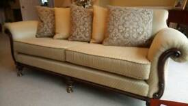 BARGAIN Immaculate WADE Sofas (2) +Footstool