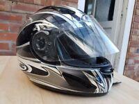 ***HJC Motorbike Helmet - Chrome/Mirrored Effect - - Boxed with Helmet Bag***