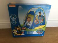 Brand new in box paw patrol pop up tent
