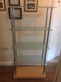 Glass shelving/bookcase