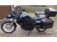 BMW F650 GS. Excellent Condition. Full touring kit. Factory lowered suspension