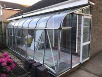 Lean-to Greenhouse L 5M x D 1.8M x H 2.1M