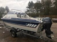 Fletcher Faro sports weekender 50hp 4 stroke Yamaha 2007 galvanised braked trailer fast /economical