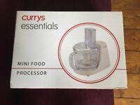 Currys mini food processor blender liquidiser chopper slicer grater, BNIB