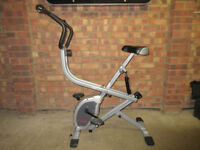 Exercise Bike With Built In Rower Handle Bar Rowing Machine Dual Action Fitness Gym Equipment USED