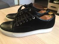 Luxurious Lanvin Toe Cap mens calf skin sneakers, black 43 / uk9, rrp £315