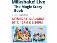 Milkshake! Live tickets @ G Live- great seats