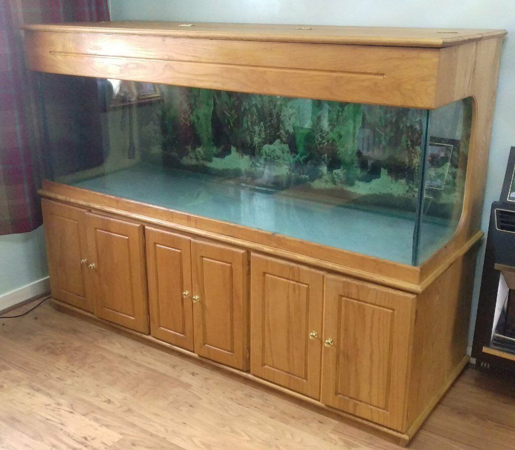 6ft x 2ft x 2ft fish tank aquarium wooden cabinet pump for 1000 gallon fish tank for sale