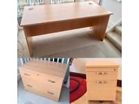 OFFICE DESK, DRAWER CHEST, SIDE DRAWER, HEAVY DUTY & HIGH QUALITY, IMMACULATE!