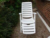 Garden Lounger and chair