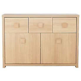 Eden 3 Drawer 2 Door Sideboard Oak