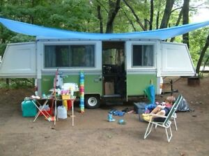 Apache Pop Up Camping Trailer solid sides