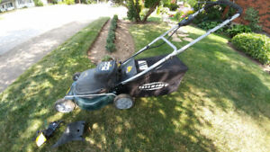Battery Powered Self-Propelled Lawn Mower by Yardworks