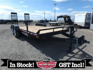 14K - 7 x 18ft HD Equipment Trailer *STAND UP RAMP* TAX IN