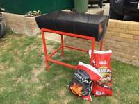 Diesel drum BBQ and Stand