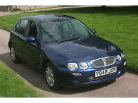 01 ROVER 25, 1.4, 5DR, LOW MILEAGE, NEW MOT, GREAT CONDITION, FREE WARRANTY