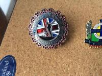 Two battle of Somme badges