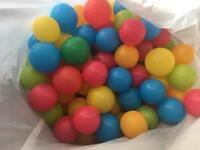 Plastic balls for a ball pit