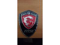 MSI Gaming G Series Dragon Shield Logo Hard Sticker / Badge / Label case mod