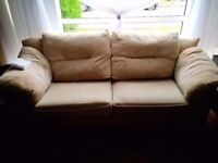 Free 2 fabric sofas, both 3 seater great condition