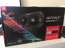 Graphics card AMD Asus Strix Radeon RX 570 4gb 2 months old
