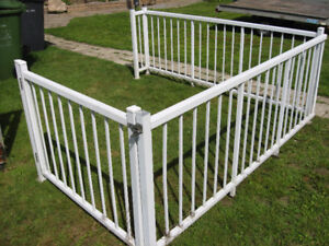 rampe d aluminium   2 section de 36x 90 po +porte de 45 x36 po