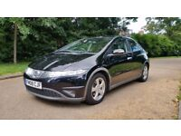 HONDA CIVIC SE CTDI 08 PLATE 2008 109409 MILES FULL SERVICE HISTORY A/C ALOYS 6SPEED IN BLACK 5DR