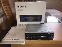 SONY MEX-4100BT BLUETOOTH CAR AUDIO HEADUNIT, EXCELLENT CONDITION, BOXED, INSTRUCTIONS, CABLES