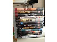 12 PS3 games all in very good condition