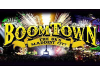 2 x Boomtown Festival + Camping Tickets