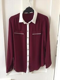 Primark Red & Whit Shirt