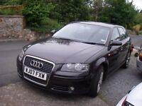 Audi A3 Sport TDi 170 Auto. Metallic Grey. Half Leather.. £94, 500 miles.