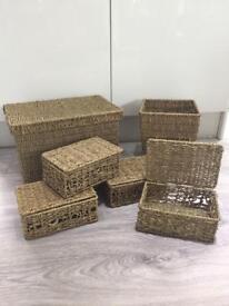 Selection of Wicker Storage Baskets
