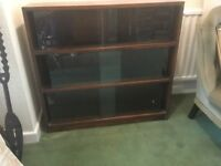 Vintage Glass fronted book/display cabinet