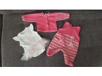 Baby girl tutu dress vest, pink jumpsuit with jumper