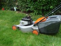 Petrol 4 stroke mower. Flymo Briggs and Stratton 46s horizontal. Full working order.