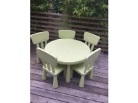 Child's Outdoor Table and Chairs