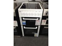 Beko white ceramic top electric cooker. 12 month Gtee. £249