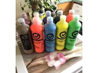 10 bottles of ready mixed paint for children's painting activities