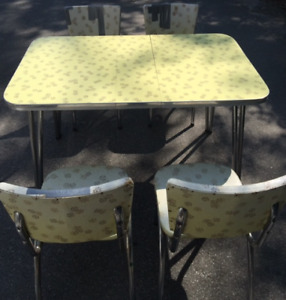 Arborite table and chairs vintage retro antique
