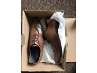 BRAND NEW IN BOX MENS SIZE 8 LEATHER NEXT SHOES NEVER WORN COST £49.99 SELL £19.99