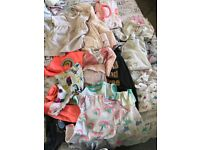 Bundle of up to 1 month girls clothes