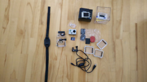 Go Pro Hero2 + LCD BacPac (screen) + 16GB SD card