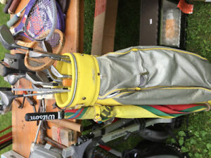 2 SETS OF GOLF CLUBS-Bags and Carts $25.00
