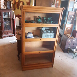 Antique barristers bookcase oak