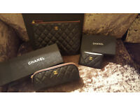 Chanel Caviar O case Medium Cardholder and Make up bag