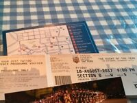 Royal Edinburgh Military Tattoo ticket for Friday 18th August 2017 [SOLD]